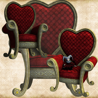 Red Heart Throne by Just-A-Little-Knotty