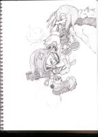 knuckles and rob o' the hedge by Callihanclan