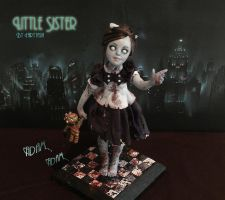 Little Sister Bioshock Sculpture Full Shot by fairytasia