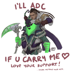LOVE your SUPPORT! Thresh/Lucian by Sanshikisumire