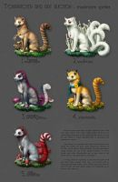Character and art auction: Spore stoats CLOSED by vesner
