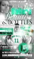Ballers Beauties Bottles Flyer by AnotherBcreation