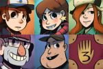 Gravity Falls - Stickers by Aluhnim