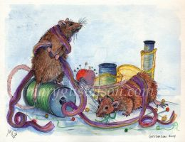 Ribbon Rats -Elionazale by childrensillustrator