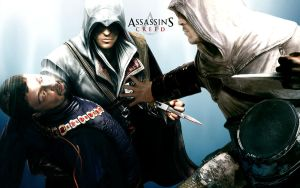 Ezio and Altair at work XD by Ansfera