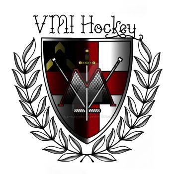 VMI Hockey Crest by AllHaleTurekArt
