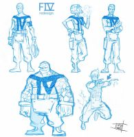 Fantastic 4 redesign by Nezart