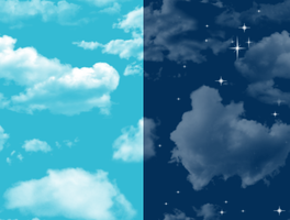 Cloudy Sky tileable Background by turtlegirlman