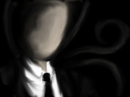 Slenderman in the dark by Cageyshick05