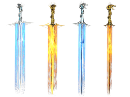 Fantasy Swords PNG Stock by Roys-Art