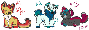 Adopts! CLOSED but I do customs! by kitsunebushi-adopts