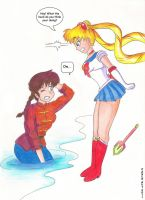 Usagi vs Ranma green battle_03 by locofuria