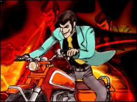 lupin running wild by TheUncle