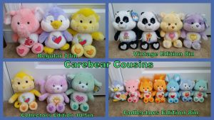 Carebear Cousins Collection!! by Vesperwolfy87