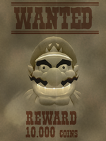 Wanted poster 2 Wario by ZeFrenchM