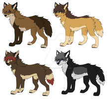 Female wolf adoptables CLOSED by MikasAdoptables