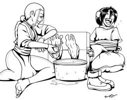 Toph's Dirty Feet by Bad-Pierrot
