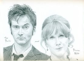 The Doctor and Donna Noble by Keava-Rayne