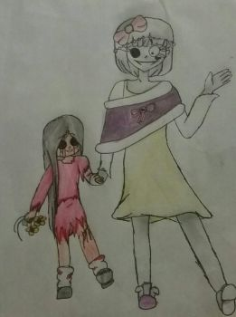 Button eyes and Lilly the zombie by nice-girl-xoxox