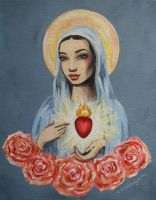 mary immaculate for my grandma grace by annabronwyn