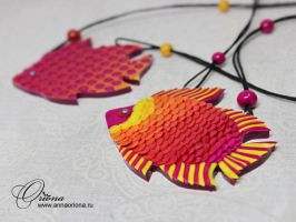 Pendant 'Fish' by OrionaJewelry