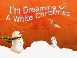 WHITE CHRISTMAS WALLPAPER by DragonsChest