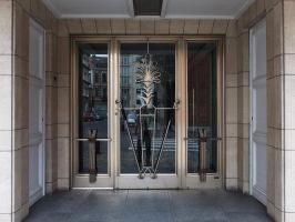 Art Deco styled entrance by Smaragd01