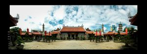 Siong Lim Temple Panorama by Renez