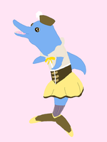 Magical Girl Dolphin by rockettreverie