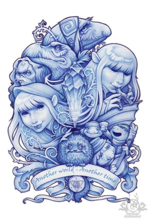 Another world, another time BLUE original version by Medusa-Dollmaker