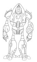 uncolored robot concpet by EvilPurity