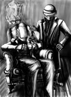Daft Punk in the Manor by Shasel