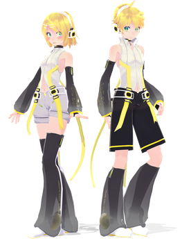 .: DL Series :. TDA Append Kagamine Twins by Duekko
