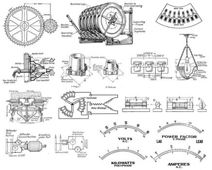 1920's Electrical schematics by gothiclord2000