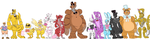 Fnaf Height Chart by dongoverload