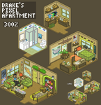 Drake's Pixel Apartment by Chikara-Redwing
