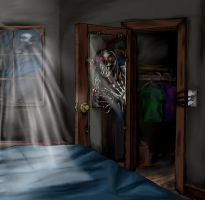 Monster in My Bedroom Closet by ravenescence