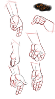 Gesture Practice : Hands Part 1 by minktee
