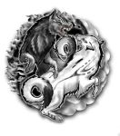 Yin Yang Wolves by artfullycreative