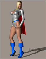 PowerGirl Posing by LordSnot