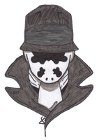 Rorschach in Black and White by DoodleStruck