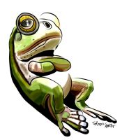 Frog Drawing digital colored by theTobs