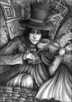 Scarecrow pencilwork by Marsuministeri