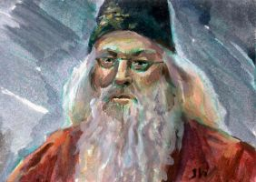 Dumbledore Harry Potter Sketch Card by Stungeon
