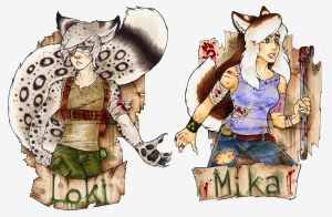 CALIFUR Siblings Pair badge by zirio