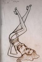 Pin up doodle by LaraInPink