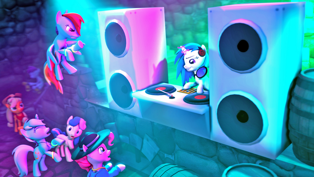 [SFM Ponies]: Rave at the Castle by ata64