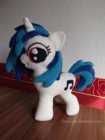 Vinyl Scratch/ DjPon3  plushie by CaveLupa
