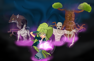 Winx 6 season selina and monsters by EvaVein