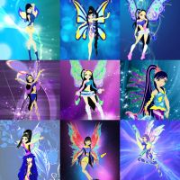 Fairy of time collage by LenneWolf